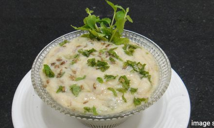 Healthy and digestive Indian gourd or guinea  bean dip